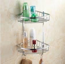 bathroom shoo holder wall mounted chrome brass bathroom soap dish bath dual tiers