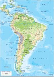 Physical Maps Physical Map Of South America Grahamdennis Me