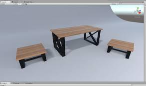 office furniture table set scene 3d model cgtrader
