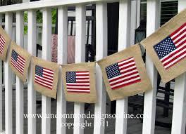 Burlap 4th of July Flag Banner Un mon Designs