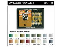 vallejo model air wwii allied model colour set 71180 from