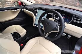 Tesla Interior Model S 2015 Tesla Model S P90d Review Video Performancedrive