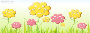 Smiley Flowers - cute spring facebook profile cover photo