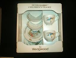 wedgwood rabbit tea set 6 rabbit childrens tea set by wedgwood antique