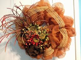 home made fall decorations tangled wreaths fall décor wreath deco mesh earth tones