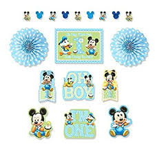 baby mickey 1st birthday mickey s 1st birthday decoration kit toys