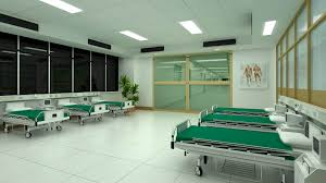 hospital interior patient room or waiting room