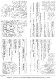 esl worksheets beginners rainbow fish story mini book