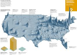 Usa Map By States by Another Way To Show The Population Distribution In Maps On