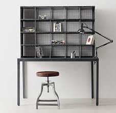 industrial metal black hutch desk