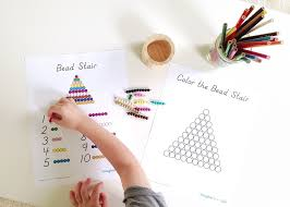 printable montessori curriculum free bead stair printables from imagine our life free printable of
