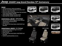 cherokee jeep 2016 white jeep grand cherokee wk2 75th anniversary edition jeeps