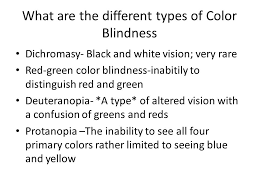 color blindness dyschromatopsia ppt video online download