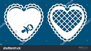 set laser cutting cards die cut stock vector 459713845