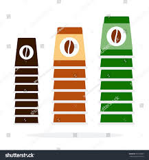 Types Of Coffee Mugs Three Towers Coffee Cups Different Sizes Stock Vector 581006995