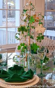 s day table centerpieces 4 leaf clover napkin fold for st s day table setting