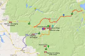 Map San Francisco To Yosemite National Park by Yosemite Lodging Map What You Need To Know About The Area