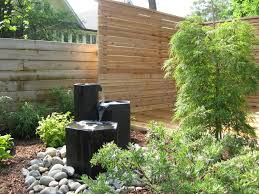 horizontal privacy fence landscape modern with landscaping plastic
