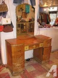 Vanities For Sale Bedroom Antique Estate 1960 U0027s Maple Vanity Dresser With Mirror Very Good