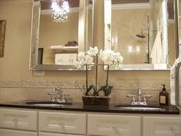 bathroom beveled bathroom mirrors frameless home decor interior