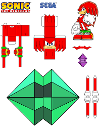 Sonic The Hedgehog Papercraft - sonic the hedgehog papercraft knuckles by tvfan0001 on deviantart