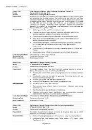 Resume For Test Lead Download Performance Test Engineer Sample Resume
