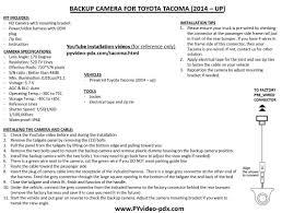 amazon com pyvideo backup camera kit toyota tacoma 2014 2015