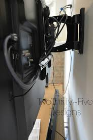 Cable Management System For Wall Mounted Tv Diy Wall Mounted Television U0026 Hidden Cords Two Thirty Five Designs