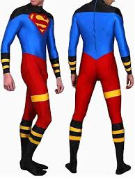 full body lycra spandex skin suit catsuit party costumes superboy