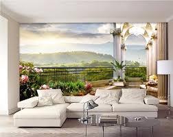 d oration chambre peinture 3d chambre papier peint personnalisé mural hors de la fenêtre