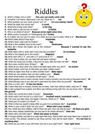 85 free esl riddle worksheets