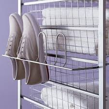 Container Store Shoe Cabinet Platinum Elfa Hangmate Shoe Rack The Container Store