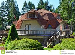 geodome house geodome homes geodesic dome house royalty free stock photography