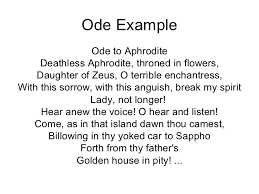 resume objective for students exles of ode different types of poetry