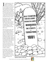 boot hill tombstone arizona coloring page printout