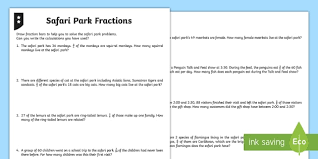 fractions word problems differentiated activity sheets