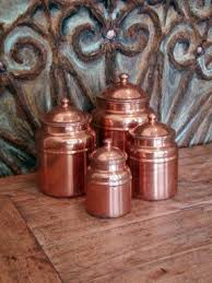 copper kitchen canister sets copper canister sets foter