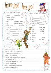 esl kids worksheets have has got