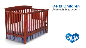 Delta Canton 4 In 1 Convertible Crib Espresso Cherry by Delta Children Gateway 4 In 1 Crib Assembly Video Youtube