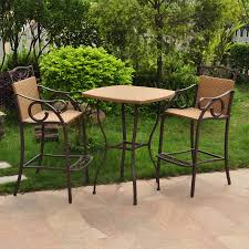Wicker Patio Dining Sets - details about 3 piece wicker patio shop hanover outdoor furniture