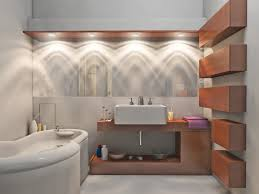 bathroom modern bathroom with halogen lighting idea also led