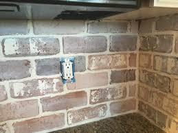 Do It Yourself Brick Veneer Backsplash Remington Avenue White - Brick veneer backsplash