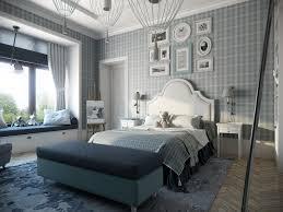 Plaid Bedroom Wallpaper Interior Design Ideas - Modern classic bedroom design