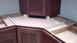 installing kitchen cabinets with appliance garage youtube