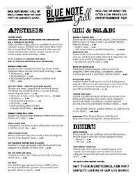 menu the blue note grill