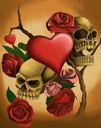 skulls and roses on behance