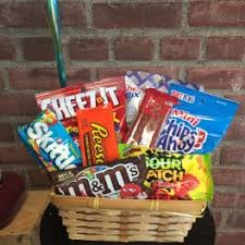 junk food basket i m sorry flower delivery in new milford denis flowers gifts