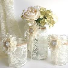 Candle Holders Decorated With Flowers Best 25 Lace Mason Jars Ideas On Pinterest Diy Lace Mason Jars