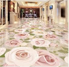 online shop 3d plant flowers embossed tile floors custom photo