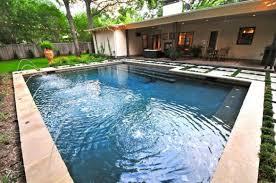 Contemporary Backyard Design With Pool Landscaping Alexon Group - Simple backyard designs